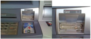 ATM Card skimmer, using modified ATM component