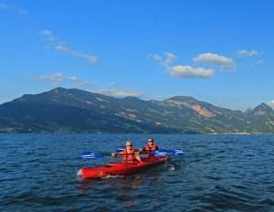 Canoe on Lake Lucerne
