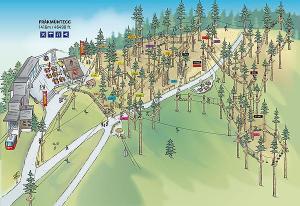 Pilatus climbing park map