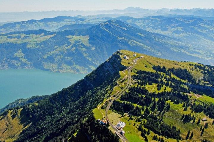 Mount Rigi aerial view