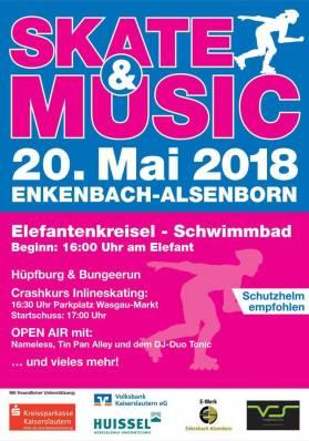 Einladung Spielefest Skate and Music Event Enkenbach-Alsenborn 20.05.2018