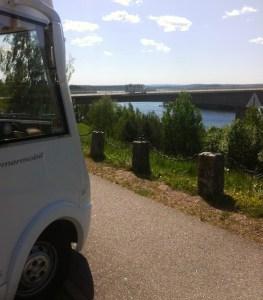 Lunchparkering vid Stora Hammarsbron. Sämre utsikt finns.
