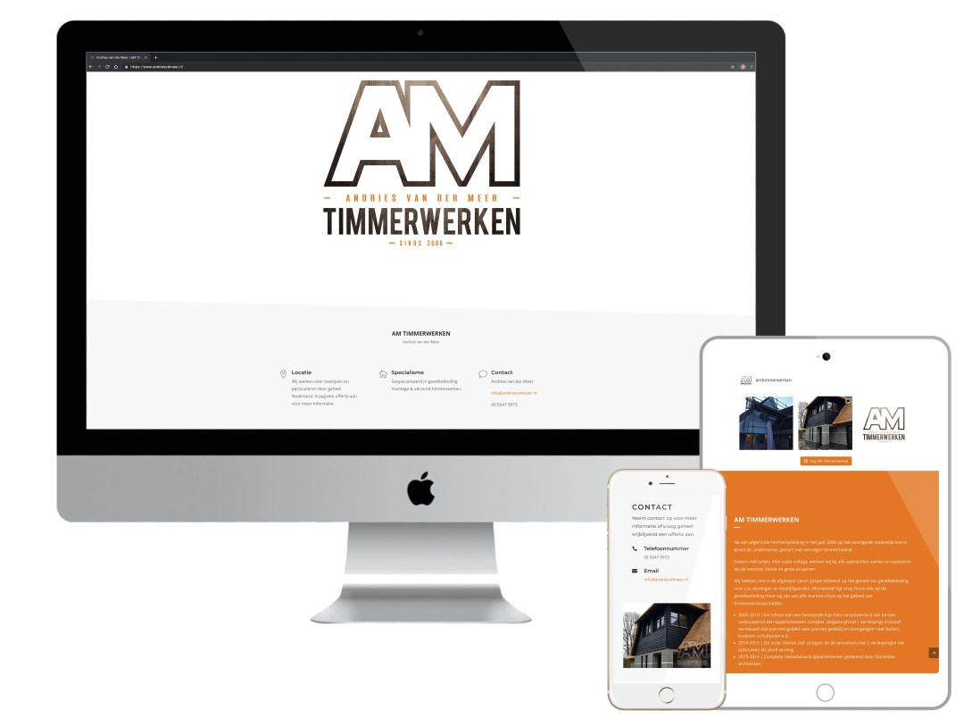 Online website - AM Timmerwerken