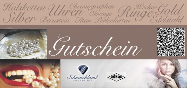 Uhren & Schmuck Juwelier Gutschein vom Juwelier KREMO kreativ modern Salzburg. Salzburger Schmuck Beratung Reinhard Maria Damisch