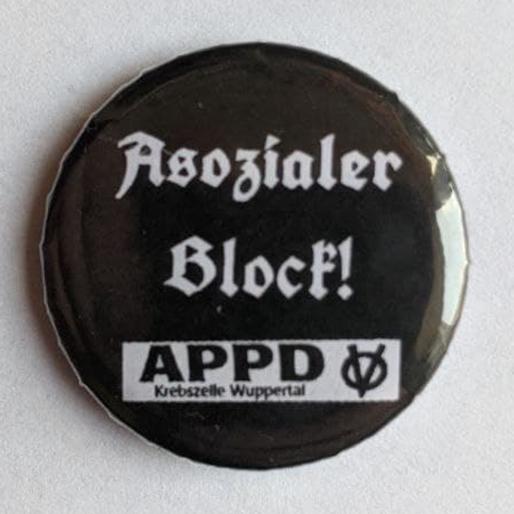 """Button """"Asozialer Block"""""""