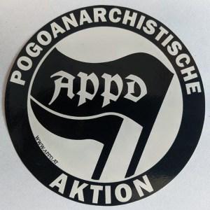 """Sticker """"Pogoanarchistische Aktion"""""""