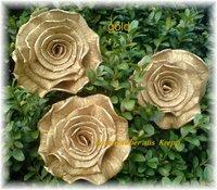 Goldhochzeit  Rosenzauber aus Krepp