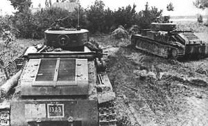 Sowiecki czołg T-28 we wrześniu 1939. Fot. Internet