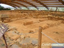 Überdachter Ausgrabungsbereich Malia