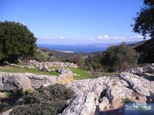 Blick von Lato aus auf den Golf von Mirabello