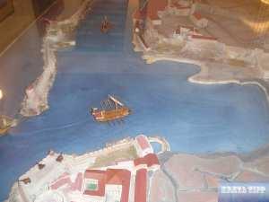 Diorama vom Hafen von Chania