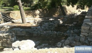 Überreste der Siedlungen von Knossos
