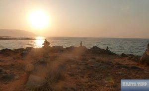 Sonnenuntergang an der kretischen Küste