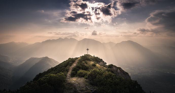 a very special Moment caputred on Mount Brünstelkopf near Garmisch-Partenkirchen