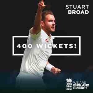 stuart board 400 wickets