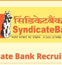syndicate bank recruitment 2019 Notification