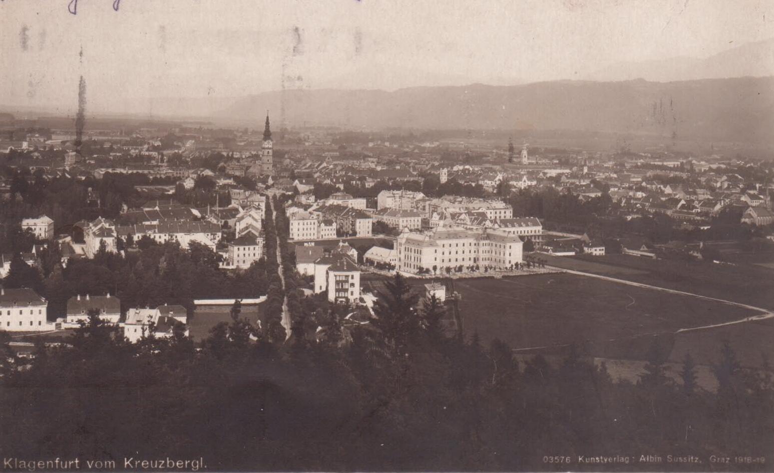 Der Blick vom Kreuzbergl ca 1918