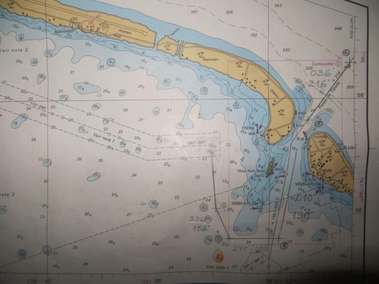 Seekarte Rangiroa