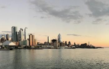 New York: Hafenausfahrt an Bord von AIDAluna 23.10.2016