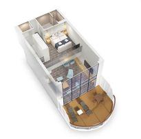 AIDAnova Penthouse Suite Grundriss