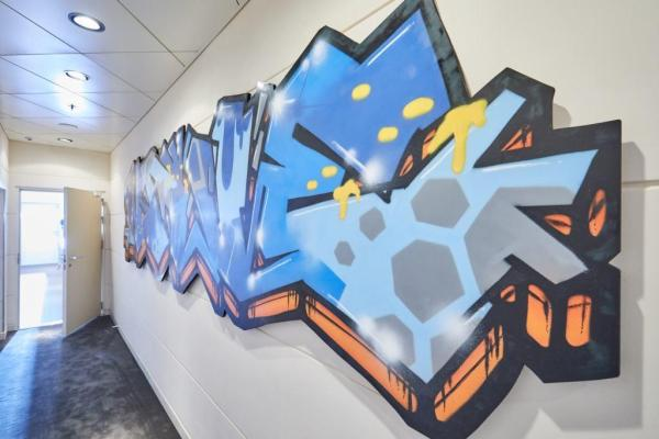 Hapag-Lloyd Cruises Graffiti Eingangsbereich Teen club