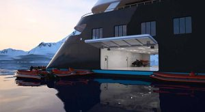 Scenic Eclipse U Boot auf einem Kreuzfahrtschiff
