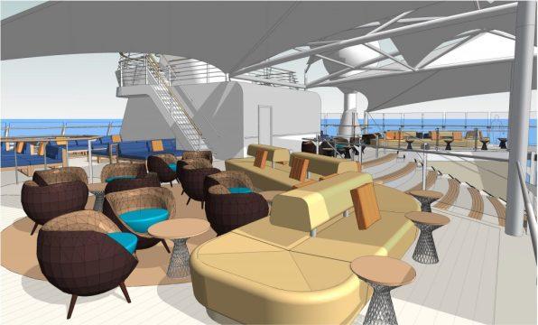 Neuer Lounge Bereich auf Deck 15 TUI Cruise Mein Schiff 6