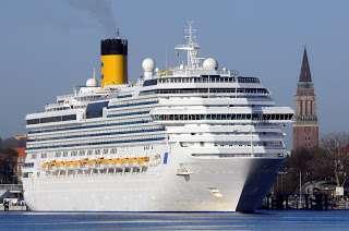 , Herzlicher Empfang für Costa Pacifica in Kiel: Erste Ankunft eines Costa Schiffes in diesem Jahr