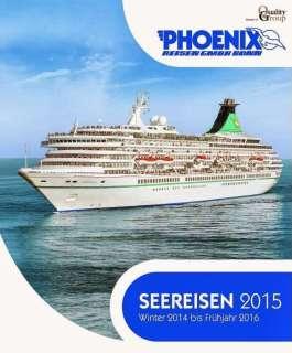 , Der neue Seereisenkatalog von Phoenix Reisen – für 2015 ist ab sofort in den Reisebüros erhältlich!