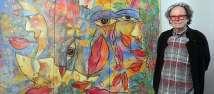 Felix Büttner malt neues Bild für AIDA