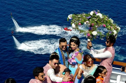 First private cruise wedding on Costa Fascinosa_Sana & Adel 2