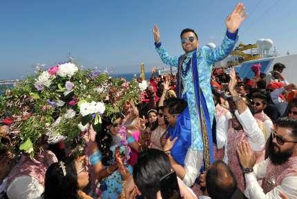 First private cruise wedding on Costa Fascinosa_Sana & Adel Baraat4