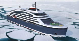 Ponant Icebreaker in Fahrt (c) Ponant - Stirling Design International