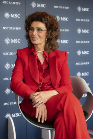 Sophia Loren at the MSC Seaview Christening credit Ivan Sarfatti