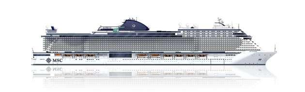 """, Stahlschnitt auf der Fincantieri Werft: Mit der """"MSC Seashore"""" enthüllt MSC Cruises den Namen des ersten Seaside EVO Schiffes"""