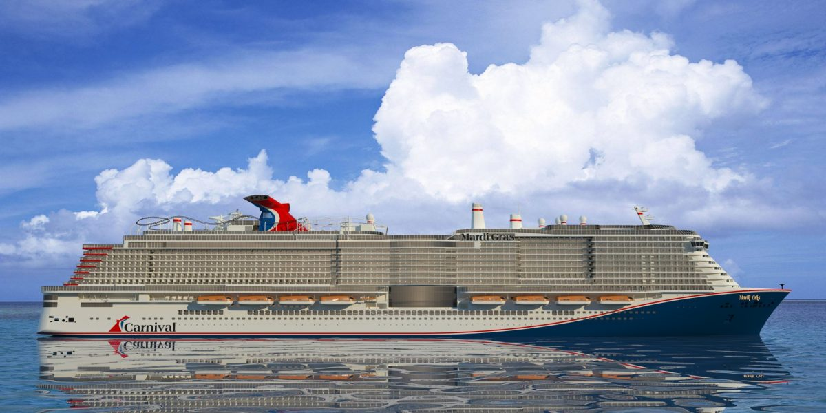 Mich wundert nichts mehr...Carnival bringt eine Achterbahn auf neuem Schiff MS Mardi Gras...