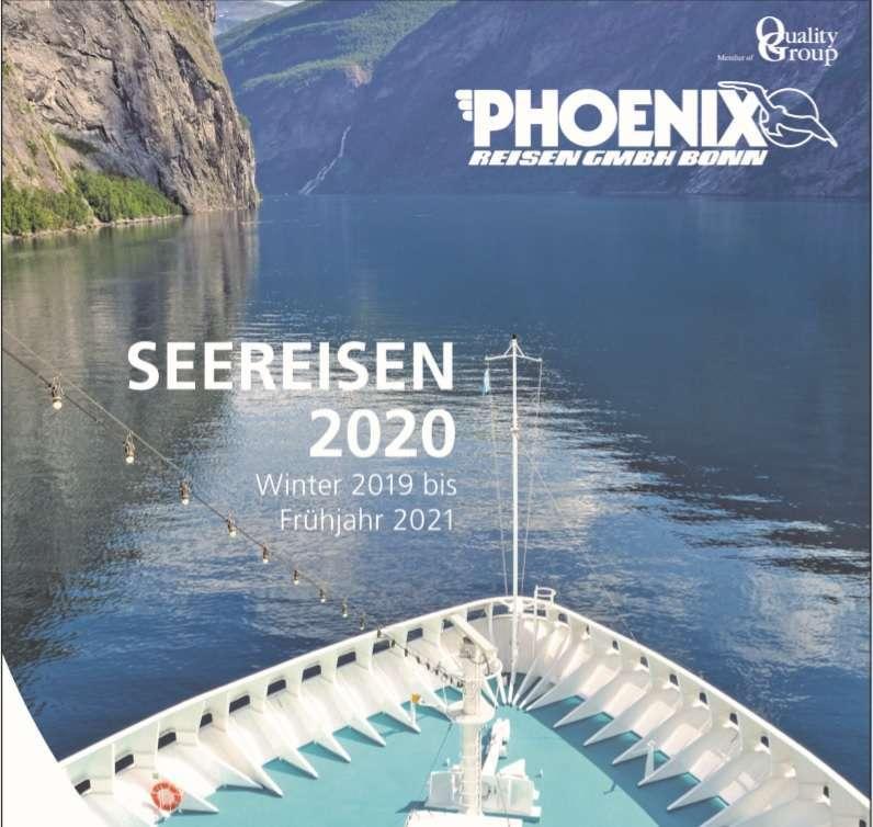 """Kreuzfahrt News: Neuer Katalog """"Seereisen 2020"""" von Phoenix Reisen..neu mit MS Amera"""