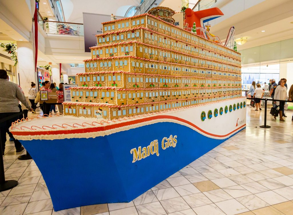 Massive Gingerbread Cruise Ship Modeled After Carnival