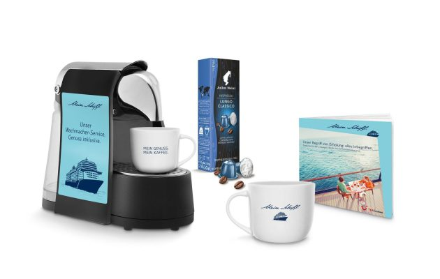 Mein Schiff Kaffee - kreuzfahrt news, Mein Kaffee. Mein Genuss: Erstes Highlight-Paket der Sales-Post in Kooperation mit Julius Meinl