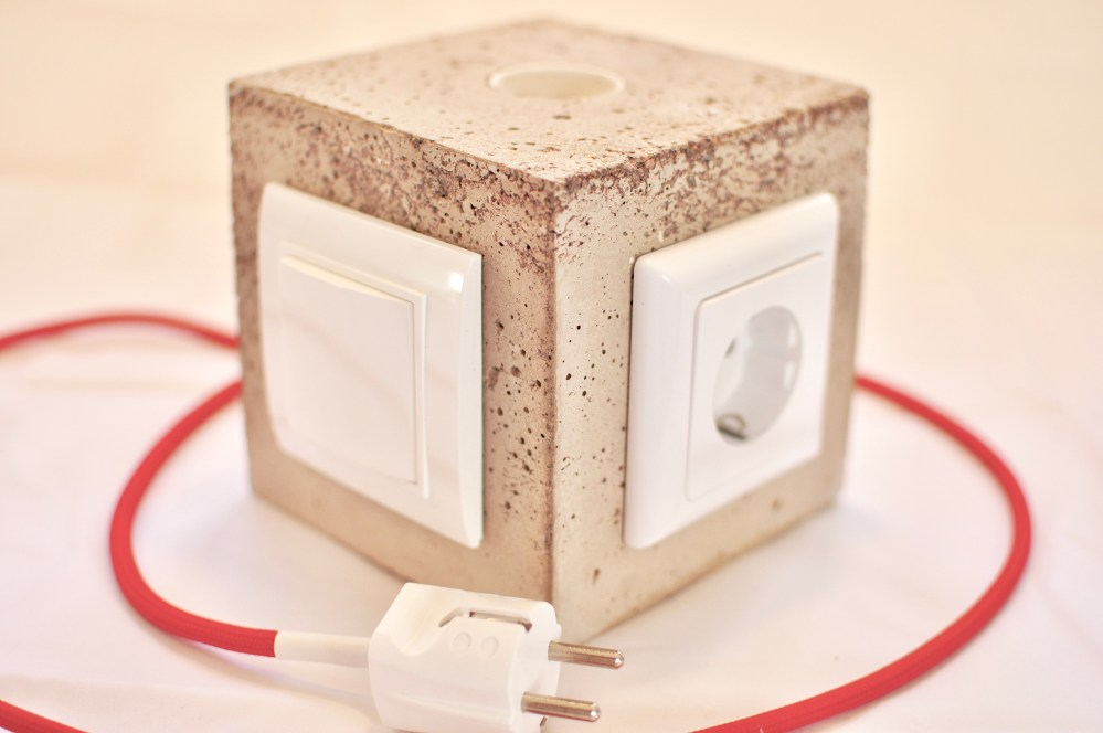 medium resolution of diy concrete lamp with switch and power outlet