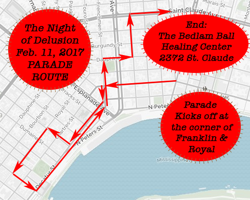2017 krewedelusion route
