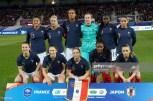 AUXERRE, FRANCE - APRIL 04: France line up before women friendly soccer match France vs Japan at Stade de L'Abbe-Deschamps on April 04, 2019 in Auxerre, France. (Photo by Sylvain Lefevre/Getty Images)