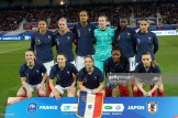 AUXERRE, FRANCE - APRIL 04: France line up before women friendly soccer match France vs Japan at Stade de L'Abbe-Deschamps on April 04, 2019 in Auxerre, France. (Photo by Sylvain Lefevre/Getty Images)