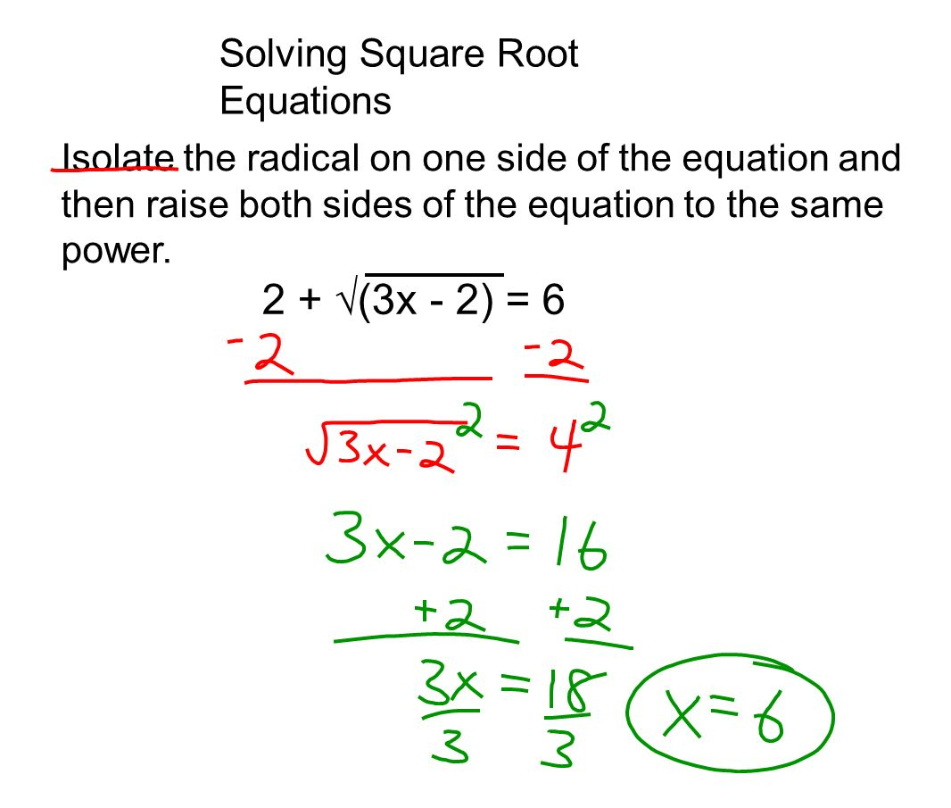 Day 118 Solving Square Root Equations Krhs Steminators