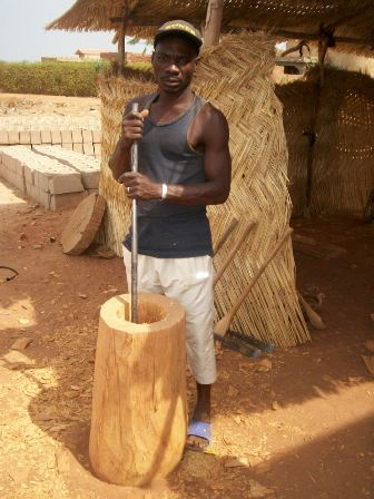 fabrication d'un djembe