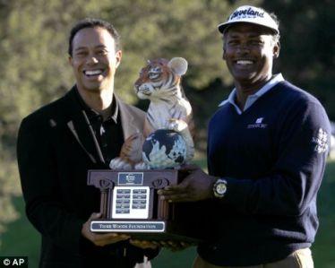 Vijay Singh and Tiger Woods