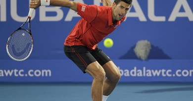Novak Djokovic in Abu Dhabi. tennis season