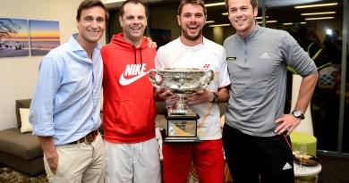 Wawrinka with team Tennis Coaches