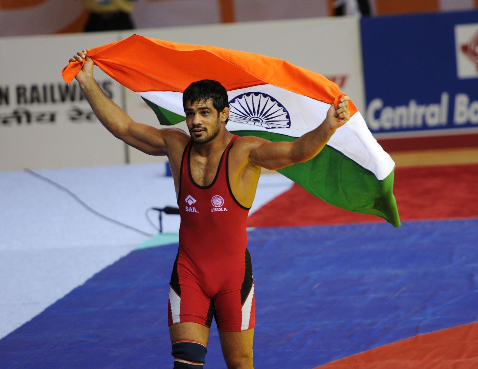 Sushil Kumar wrestling champion - Kridangan