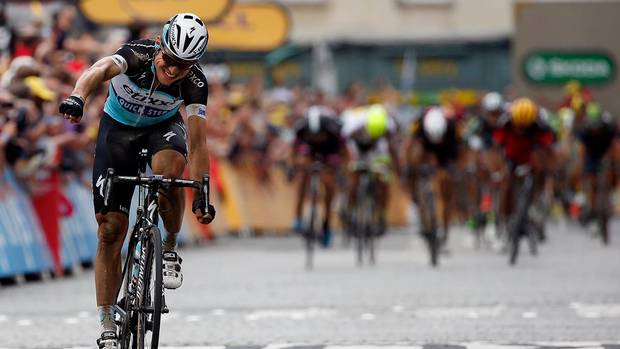 Tony Martin leads the Tour de France
